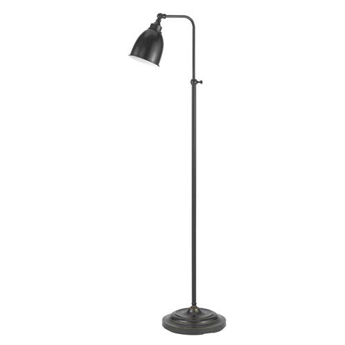 Dark Bronze Metal Pharmacy Floor Lamp with Adjustable Pole and Swivel Head