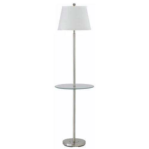 Andros Metal Floor Lamp with Glass Tray