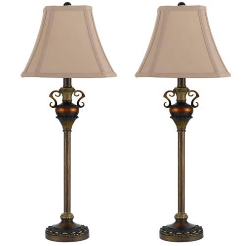 Patina Buffet Lamp, Set of 2