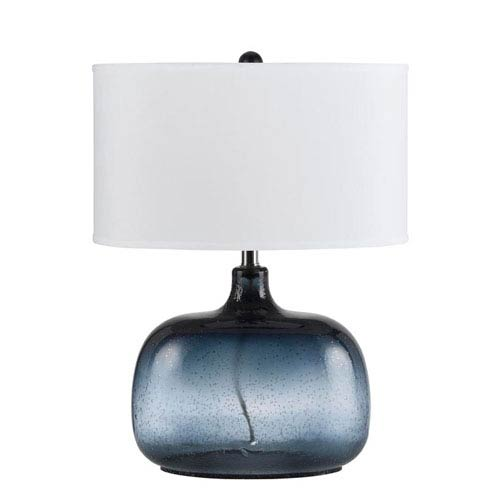Cal Lighting Christi Navy Blue Glass Table Lamp