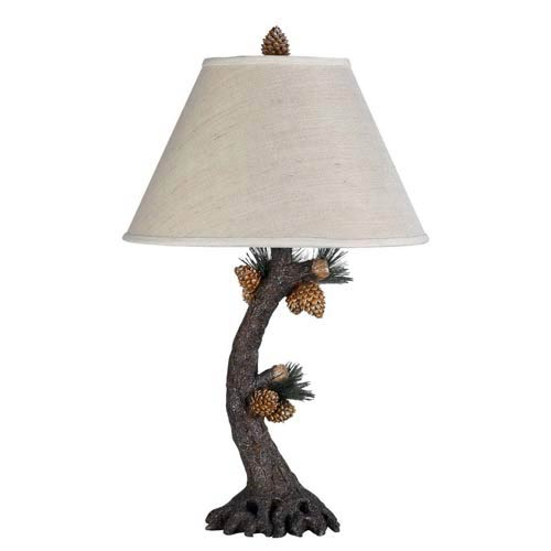 3-Way Pinecone Resin Table Lamp