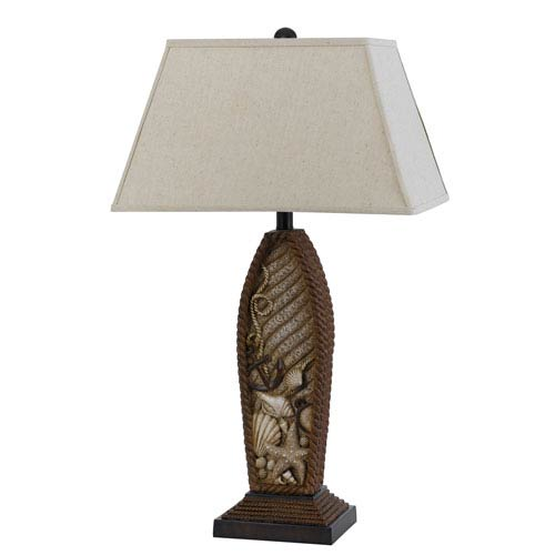Pompano Distressed Rope One-Light Table Lamp
