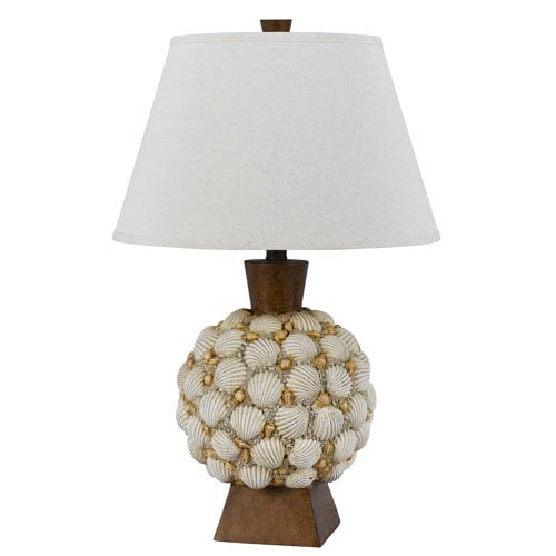 Seashell Brown One-Light Table Lamp