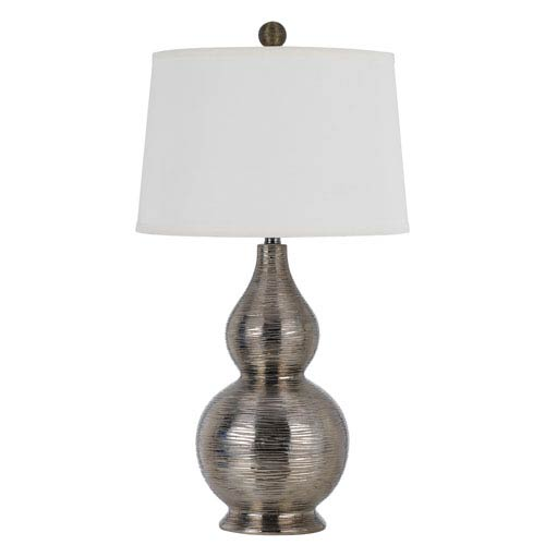 Contour Metallic silver One-Light Table Lamp