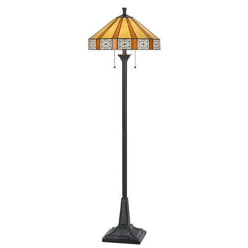 Tiffany 59-Inch Two-Light Floor Lamp