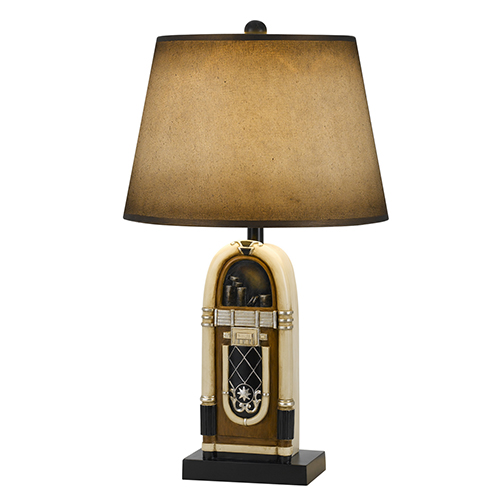 Antique Bronze and Ivory One-Light Table Lamp