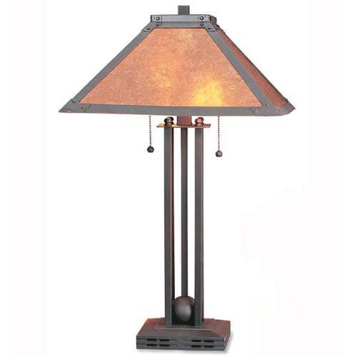 Matte Black Table Lamp Mica Shade