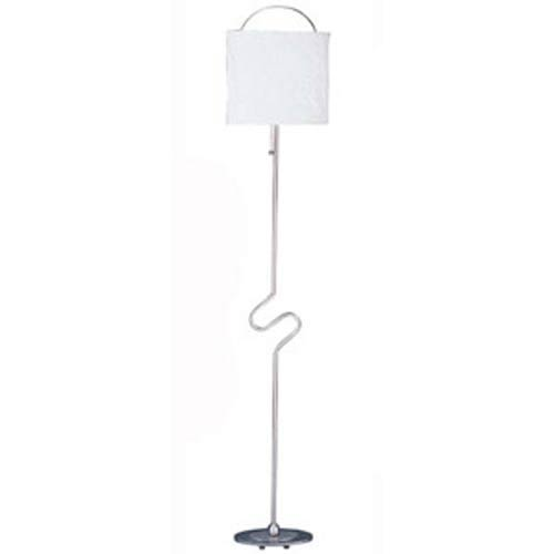 Brushed Steel Floor Lamp Paper Shade