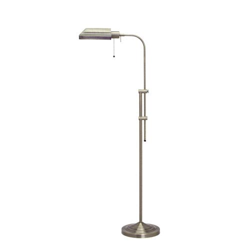 Cal Lighting Pharmacy Antique Brass Floor Lamp w/Adjustable Pole