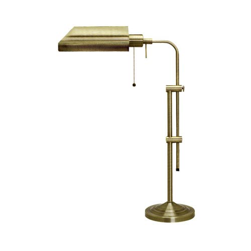 Pharmacy Antique Brass Table Lamp w/Adjustable Pole
