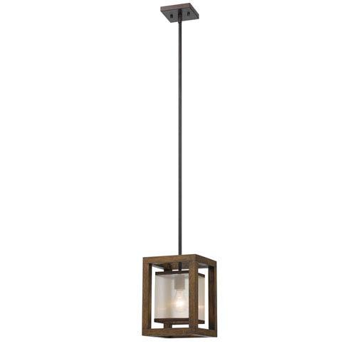 Wood One-Light Eight-Inch Mini Pendant