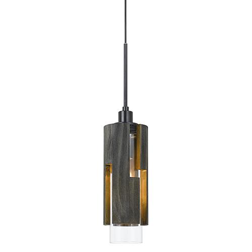 Wood One-Light Mini Pendant