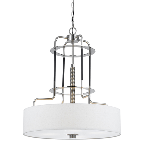 Brushed Steel 24-Inch Four-Light Pendant