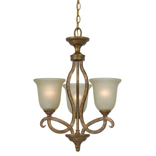 Cal Lighting Emmett Imperial Bronze Three-Light Iron Chandelier