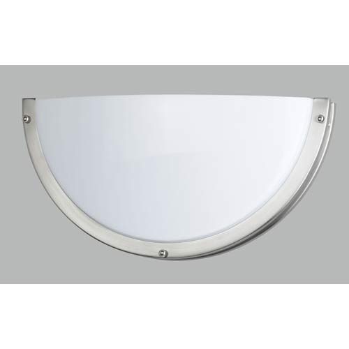 Brushed Steel Half Moon Wall Sconce