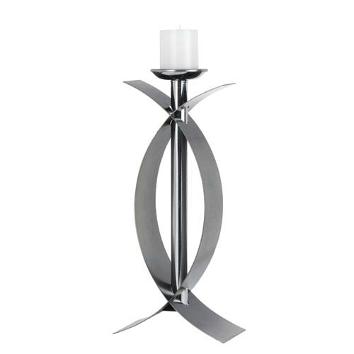 Cecina Mirrored Metal Candle Holder