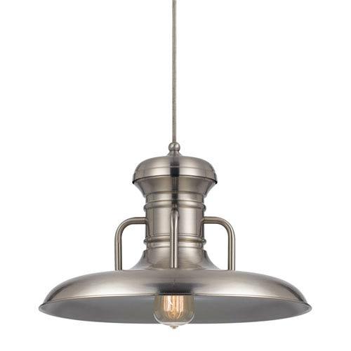 Winterset Brushed Steel One-Light Sixteen-Inch Pendant