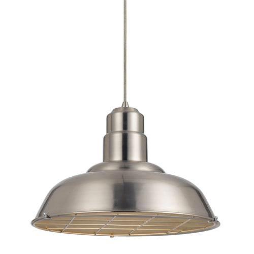 Ashland Brushed Steel One-Light Sixteen-Inch Pendant