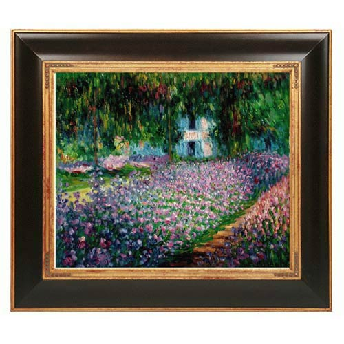 Artist's Garden at Giverny by Claude Monet: 20 x 24 Framed Oil Painting Reproduction