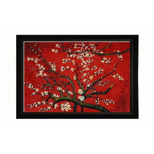 OverstockArt Branches Of An Almond Tree In Blossom Artist Interpretation in Red by Vincent Van Gogh: 36 x 24 Oil Painting