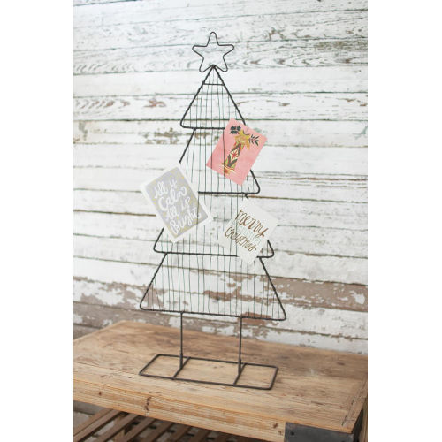 Cast Iron Christmas Card Holder without Clips