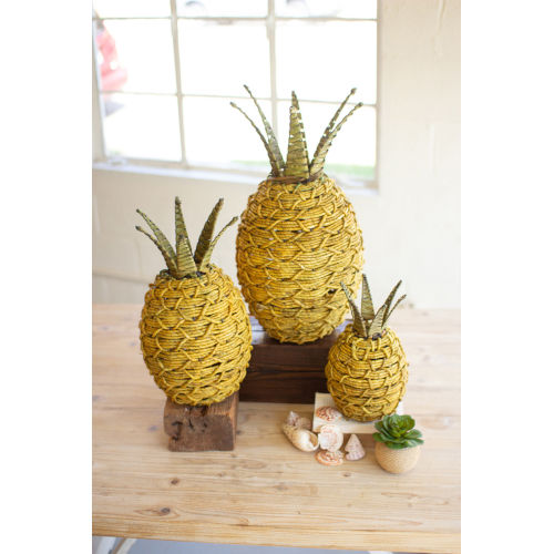 Seagrass Yellow and Green Pineapple, Set of 3