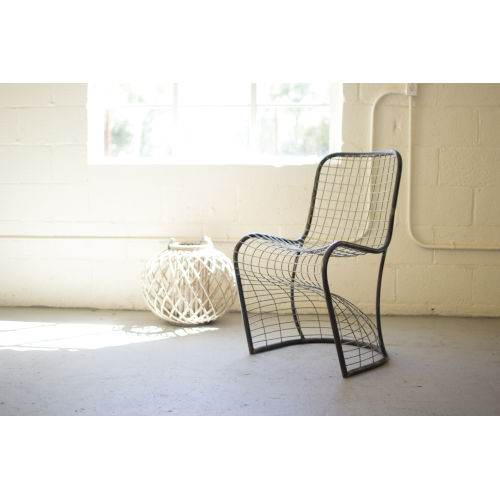 Metal Woven Dining Chair