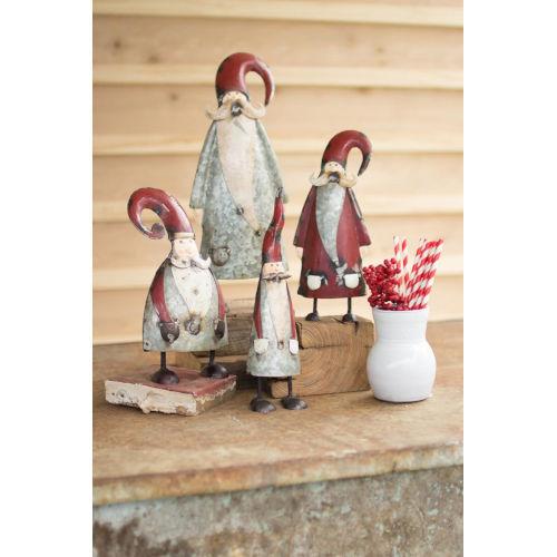 Multicolor Painted Santa Figurine, Set of 4
