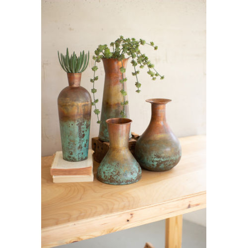 Copper Two-Toned Vase, Set of 4