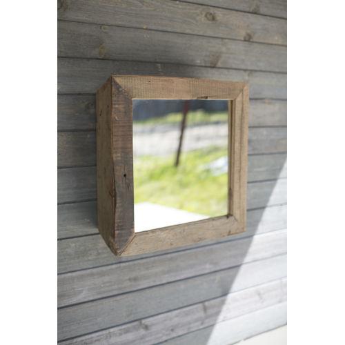 Natural 23-Inch Box Mirror