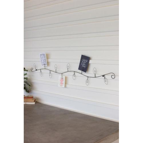 Cast Iron Christmas Bulb Card Holder