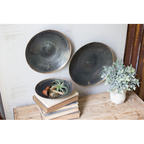 Black Copper Platter, Set of 3