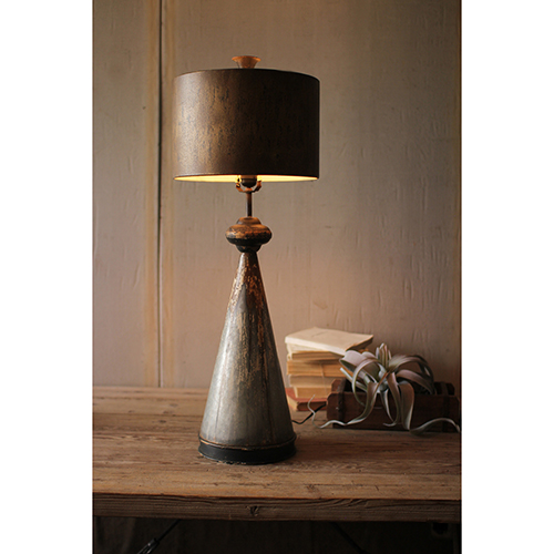 Brown One-Light Table Lamp