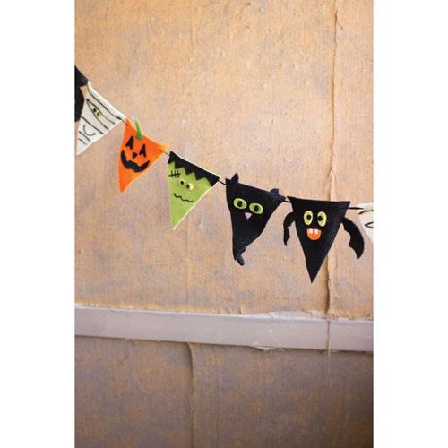 Felt Halloween Pennant Garland