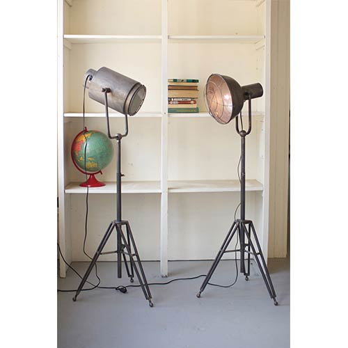 Metal Caged One-Light Studio Lamp Only