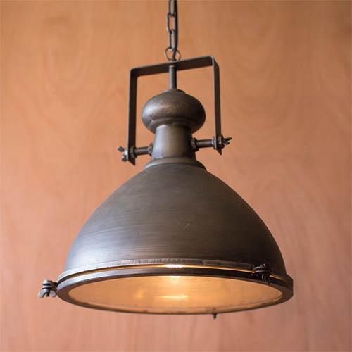Metal One-Light Dome Pendant III
