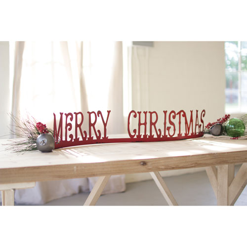 Table Top Of Mantle Merry Christmas