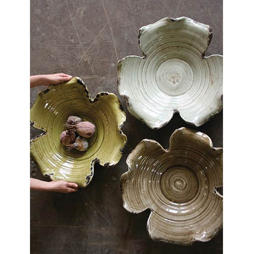 Grey Giant Leaf Bowl Only