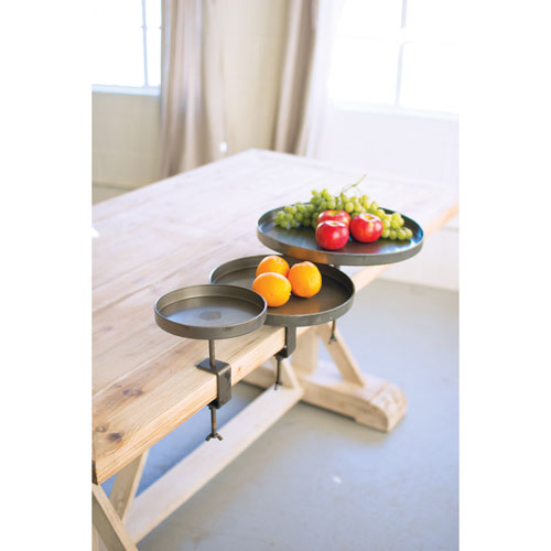 Round Metal Display Stands with Table Clips, Set of Three