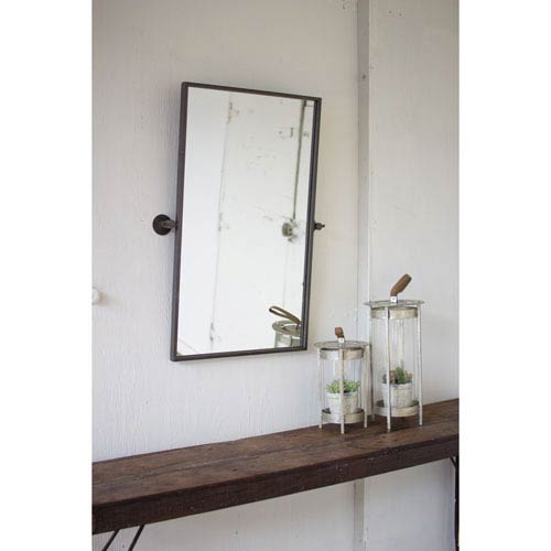 Adjustable Metal Wall Mirror