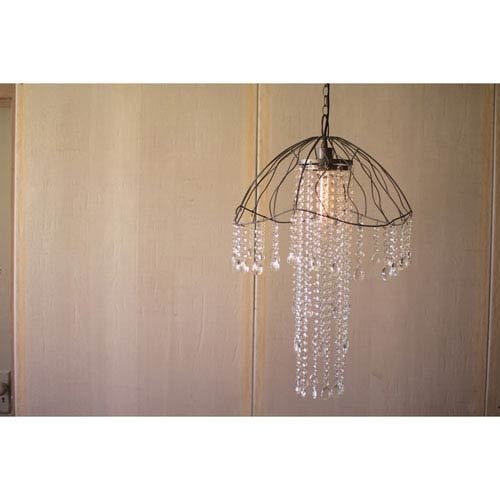 Wire and Gems Jellyfish Pendant Light
