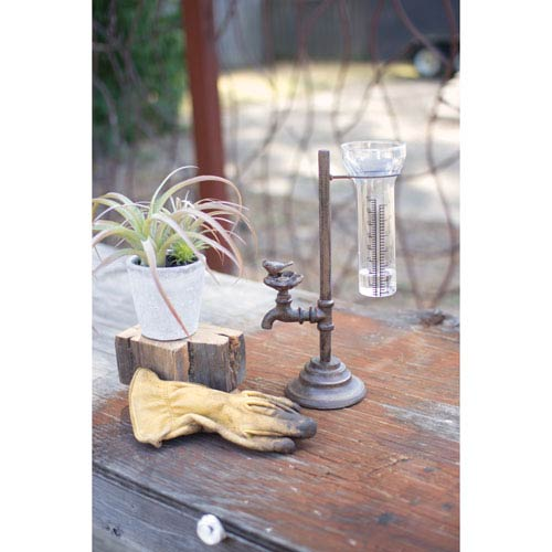 Cast Iron Water Tap Rain Gauge