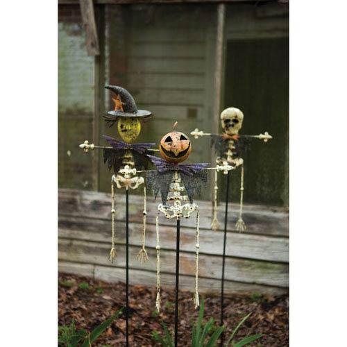 Assorted Halloween Yard Stakes, Set of Three