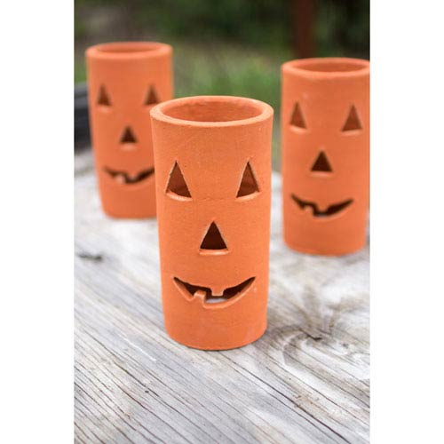 Clay Jack-O-Lantern, Set of Six