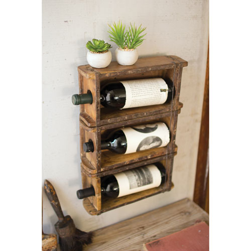 Hanging Brick Mold Wine Rack