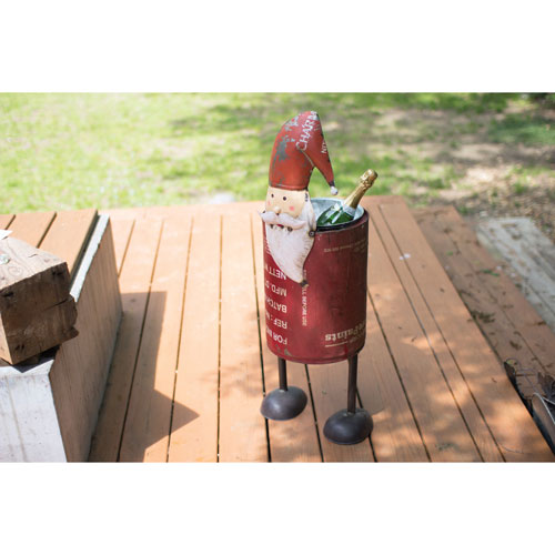 Recycled Iron Santa Cooler