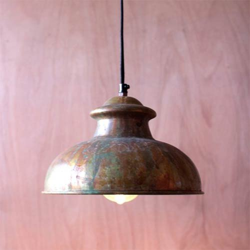 Kalalou Antique Rustic One-Light Dome Pendant VIII