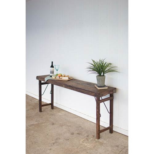 Antique Wooden Folding Console Table