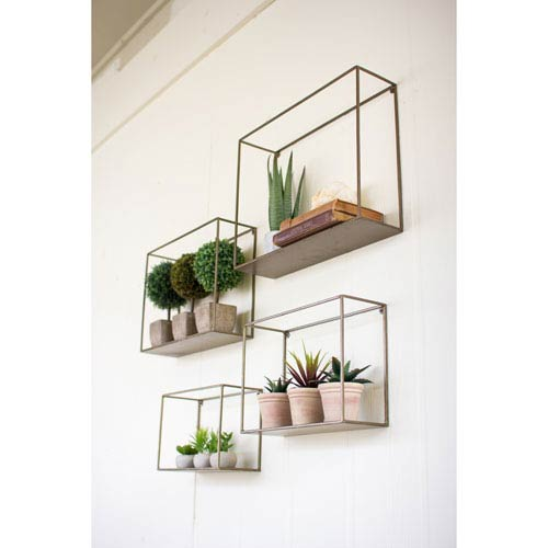 Metal and glass bookcase Antique Metal Metal Shelves Set Of Four Bellacor Shelves And Bookcases Free Shipping Bellacor