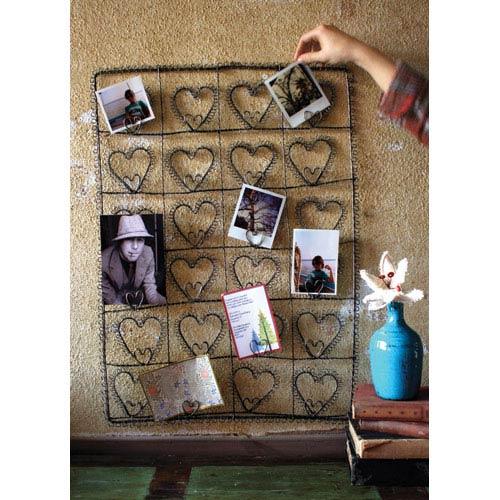 Kalalou Iron Wire Twenty-Four Heart Photo/Card Holder